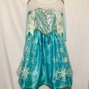 Disney Store Elsa Dress/ Halloween Costume 7/8